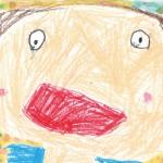 大好きなお母さんのことを思い浮かべながら画用紙いっぱいに描きました。